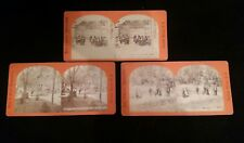 Lot of 3 Antique Baker & Record Photographers Stereoview Cards Saratoga, NY