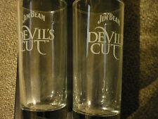 jim beams cut scotch whiskey glasses x two about 7 oz devils cut