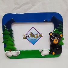 Black Bear 3D Photo Frame 4 X 6 Zootique Forest Woods Trees Picture Table Top
