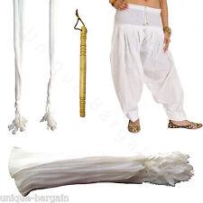 6 X Womens Mens 100% Cotton Shalwar's Nara Nala Nalay Tehband with 1 X Nara bani