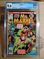 MS. MARVEL #1 1977, CGC 9.6 NM+  WHITE PAGES 1st Carol Danvers as Ms Marvel