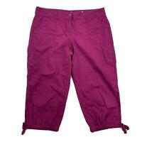 Ann Taylor LOFT Original Crop Womens Capri Pants Sz 10 Lightweight Magenta