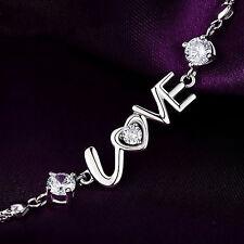 Bracciale LETTERE AMORE bigiotteria donna plac argento / Bracelet LOVE letters