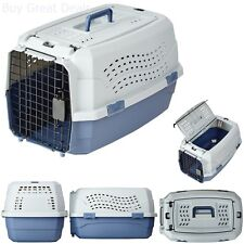 "23"" Two Door Top Load Pet Kennel Carrier Travel Crate Cage Dog Puppy Cat Box NEW"