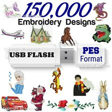 150,000 Embroidery Designs collection on USB drive pes format for brother