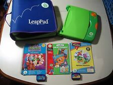 Leap Pad Learning System with binder pack case & 3 games, works great