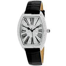 Christian Van Sant CV4840 Chic 36MM Women's Black Leather Watch
