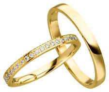 2x JC Trauringe Eheringe 585 Gold Gelbgold 14 Karat inkl.Gravur&Etui JC020