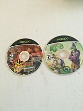 Lot of 2 XBox; Yu-Gi Oh! Dawn of Destiny, Oddworld Munch's Oddysee ,VG Disc Only