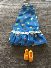 Sindy doll 1977 Romany Girl  Skirt & Yellow Shoes. Vintage dolls clothes