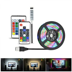 Led Light Strip 5V USB Cable 2835 Smd 5m Rgb Waterproof Flexible Tape Roll Dc