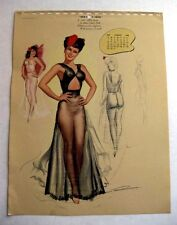 August 1948 Pin Up Girl Picture Calendar Page MacPherson Deb's Style Show