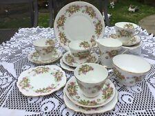 More details for royal tara irish vintage fine bone china  pink and white floral  tea set