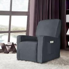 Enova Home Grey Stretch Spandex Jacquard Recliner Chair Slipcovers