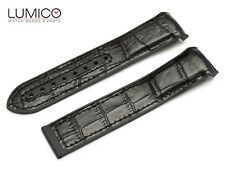 For 20mm 22mm OMEGA SeaMaster Planet Ocean BLACK Rubber Strap Watch Band Clasp