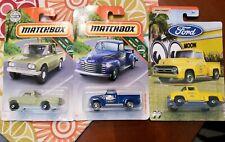 Lot of 3 Matchbox Pick Up Trucks, HTF, 47' Chevy AD 3100, 62' Nissan, F100 Moon