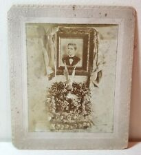 Funeral memorial, handsome young man, soldier?, flowers, funerary cabinet photo