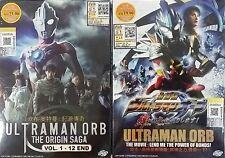 DVD Ultraman Orb The Origin Saga Vol. 1-12 End + The Movie English Sub Free Ship