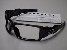 Authentic Oakley Oil Rig Polished Black Silver Ghost Text Sunglasses Frame
