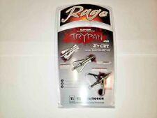 Arrow Rage Slipcam Trypan 2-Blade Rear Deploying Hybrid Tip Broadheads 3 pack