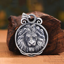 Pendants Jewelry Dragon Lion Wolf Animal Men's Real Solid 999 Sterling Silver