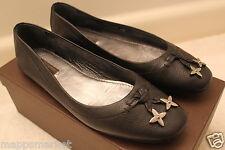 EUC Authentic LOUIS VUITTON Marguerite Flat Leather Ballerina in Black Sz 38
