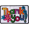 Thank You Patch Iron Sew On Embroidered Badge Flowers Embroidery Crafts Applique