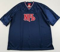 New NFL Football Adult Jersey Shirt One Size Blue Red V Neck Game Day Popover
