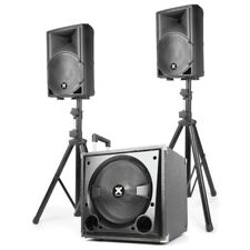 Aktiv PA Lautsprecher Set Topteil Subwoofer Bass 800 Watt - DJ Club Party MP3