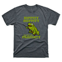 Hippity Hoppity Get Off My Property Funny Men's Tee Short Sleeve Cotton T-shirt