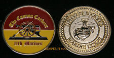 11TH MARINES CHALLENGE COIN US MARINES PIN UP GIFT 1ST MAR DIV CAMP PENDLETON