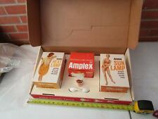 Vintage 1950's Amplex Health Twins Suntanning Heat Sun Lamps Advertising Display