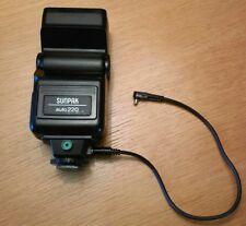 Canon: F-1 Sunpak auto220 + Canon Cord 6V 2B (Kabel)