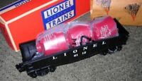 LIONEL 6112-1 CANISTER CAR WITH RED CANISTERS CAR O GAUGE ROLLING STOCK MIB 3178