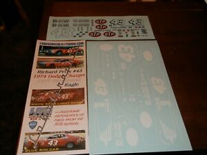 Richard Petty $43 1976 BICENTENIAL EAGLE Charger 1/24th scale decals LoboGraphix