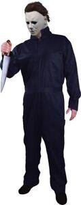 Michael Myers Coveralls Adult Men's Halloween Villain Blue Horror Collector