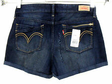 Women's LEVI'S distressed mutilation shors fabric for fixing craft size 13 #C22