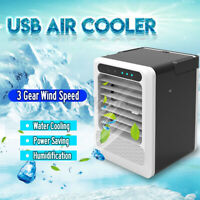 Portable Mini USB Cooling Fan Cooler Air Conditioner Humidifier Home Handheld