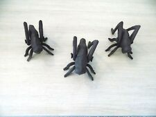 3 Cast Iron Bugs Grasshopper Cricket Paperweight Statue Figure Garden Bug Flower
