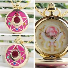 Sailor Moon Life With Sailor Moon Crystal Star Pocket Watch Necklace Cosplay