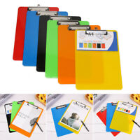A4 Plastic Writing Board Colour Clipboards Office Desk Supplies Document Holder