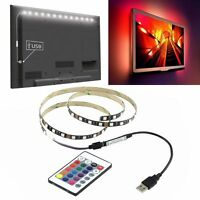 5V 5050 60SMD/M RGB LED Strip Light Bar TV Back Lighting Kit+USB Remote Control