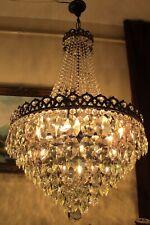 Antique Vintage French Basket style Swarovski Crystal Chandelier,Lamp,Light huge