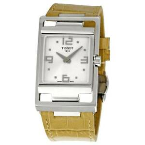 Tissot Ladies My T Silver Dial Beige Leather Watch - T0323091603700 NEW