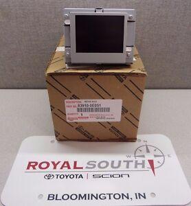 Toyota Highlander 2011-2013 Multi Information Display w/ Clock Genuine OEM OE