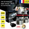 2X 9005 HB3 8 Côtés 55W 30000LM Voiture LED Ampoule Phare Feux Lampe Blanc 6000K
