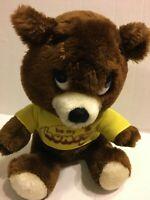 "DAKIN 1976 Vintage Be My Honey Brown Bear  10"" Plush Stuffed Animal"