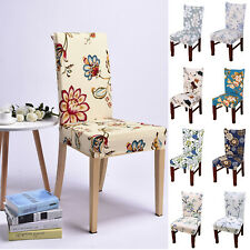 Removable Stretch Chair Covers Slipcovers Banquet Dining Room Stool Seat Decor