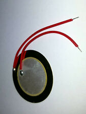 27mm Piezo Buzzer - Trigger Drum Disc + Copper Wire - UK Seller - Free P&P