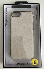 Design by Tartaruga color crema in pelle iPhone 7 CASE